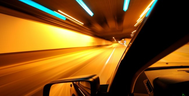 Highway tunnel lights